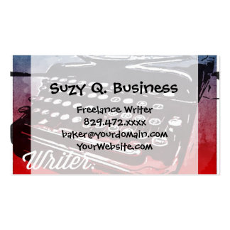 Writer with Typewriter Blue Red Pop Art Pack Of Standard Business Cards
