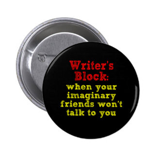 Writers Block: 6 Cm Round Badge