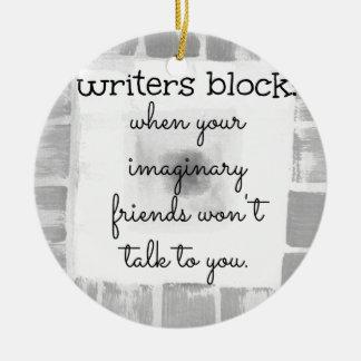 Writers Block Christmas Ornament