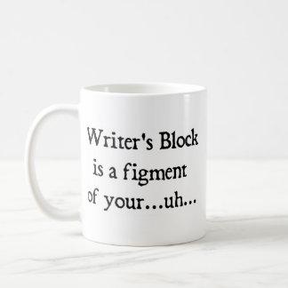 Writer's block classic white coffee mug