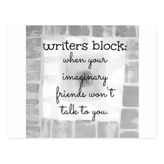 Writers Block Postcard