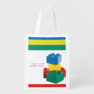Writer's Block Reusable Grocery Bag