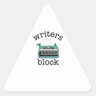 Writers Block Triangle Sticker