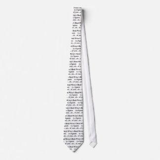 Writer's block tie