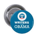 Writers for Obama Buttons