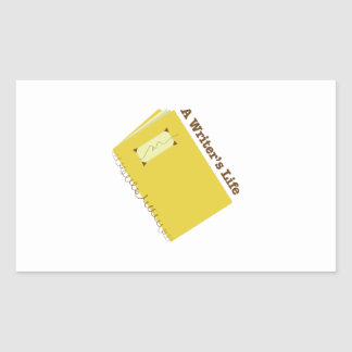 Writers Life Rectangle Stickers