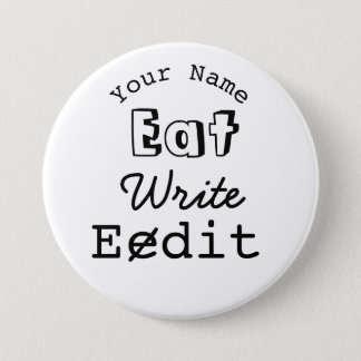 Writers Name Badge Eat Write Edit Personalized
