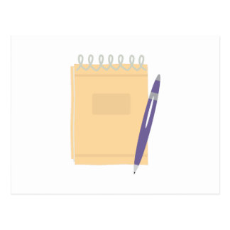 Writers Note Pad Postcard