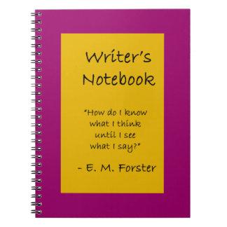 Writer's Notebook - E. M. Forster