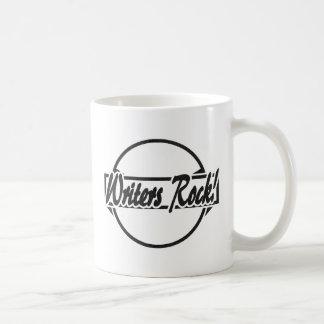 Writers Rock Circle Logo Black Grunge Coffee Mug