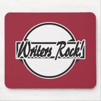 Writers Rock Circle Logo Black Grunge Mouse Pad