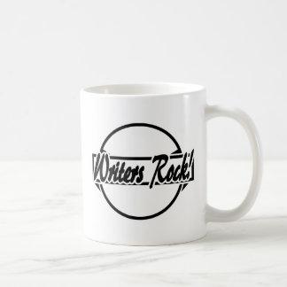 Writers Rock Circle Logo Black White Coffee Mug