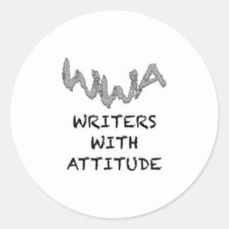 Writers With Attitude Round Sticker