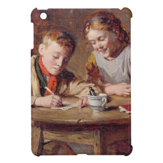 Writing a Letter (oil on panel) Cover For The iPad Mini