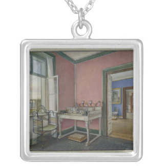 Writing cabinet of the crown princess silver plated necklace