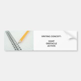 Writing  concept bumper sticker