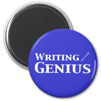 Writing Genius Gifts 6 Cm Round Magnet