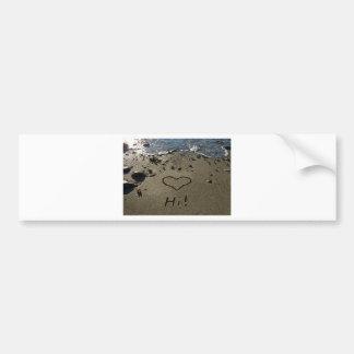 Writing in the Sand Bumper Sticker