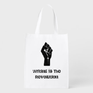 """""""Writing is the Revolution"""" Reusable Grocery Bag"""