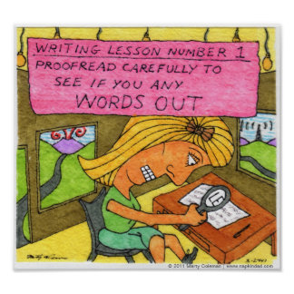 Writing Lesson #1 Poster