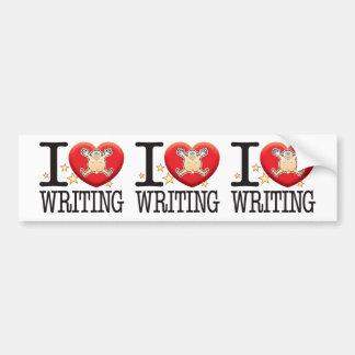Writing Love Man Bumper Sticker