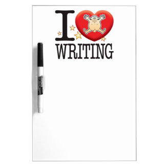 Writing Love Man Dry Erase Board
