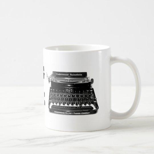 WRITING MACHINE Writer Mug