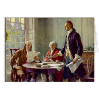 Writing of the Declaration of Independence Card