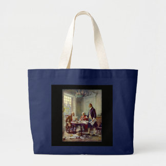 Writing of the Declaration of Independence Large Tote Bag