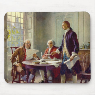Writing of the Declaration of Independence Mouse Pad