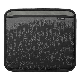 Writing once upon a time black silver kids story iPad sleeves