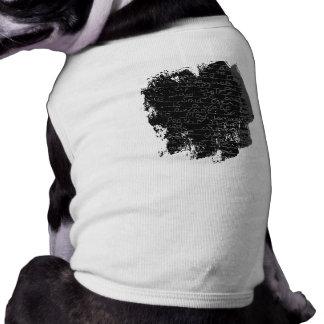 Writing once upon a time black silver kids story sleeveless dog shirt