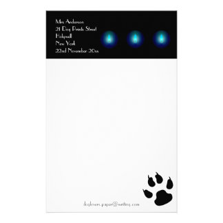 Writing Paper for Dog Lovers Stationery Design