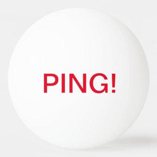Writing: PING! , PONG!; Ping Pong Ball