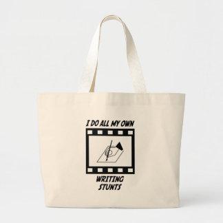 Writing Stunts Tote Bags
