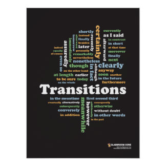 Writing Transitions 18 x 24 Classroom Poster