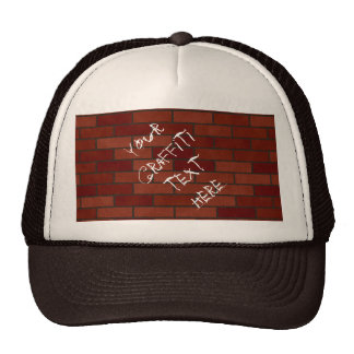 Writings on the brick wall cap