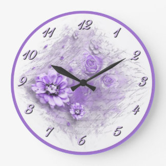 Written In Floral Lavender Wall Clock