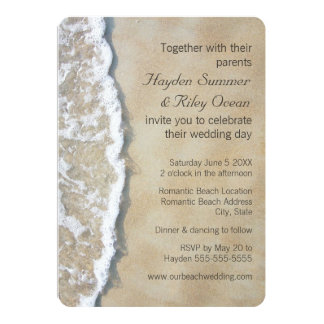 Written in the Sand Beach Wedding Invitation