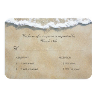 Written in the Sand Beach Wedding RSVP Card