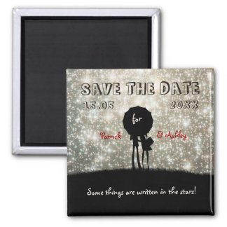 Written in the Stars Wedding Save the Date Square Magnet