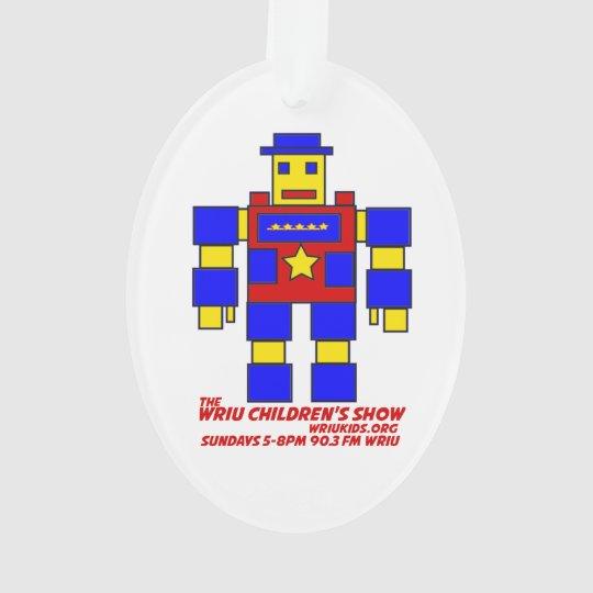 WRIU Children's Show Colour The Robot Ornament