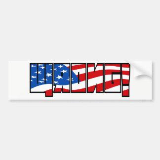 Wrong! flag filled black stroke bumper sticker