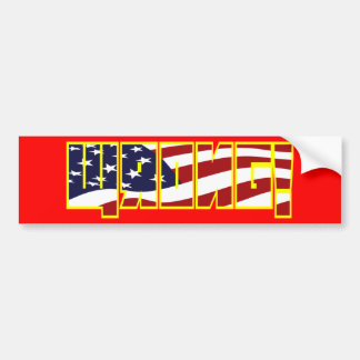 Wrong! flag filled yellow stroke bumper sticker