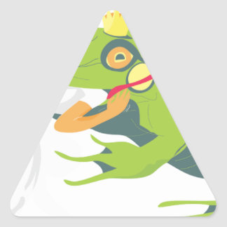 Wrong Frog Triangle Sticker