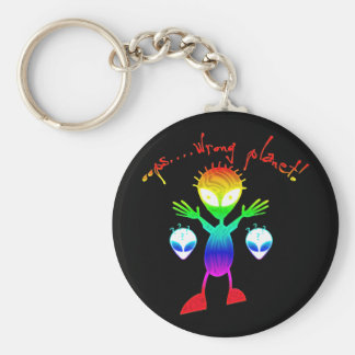 Wrong Planet Alien Keychain