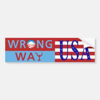 Wrong Way Bumper Sticker