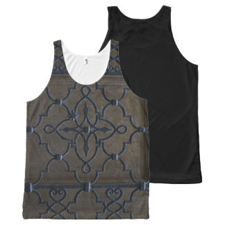 wrought iron grid vintage architectural metal deta All-Over print tank top