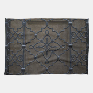 wrought iron grid vintage architectural metal deta tea towel