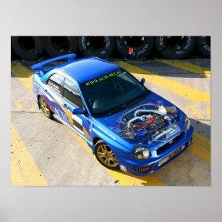 WRX Race car Poster